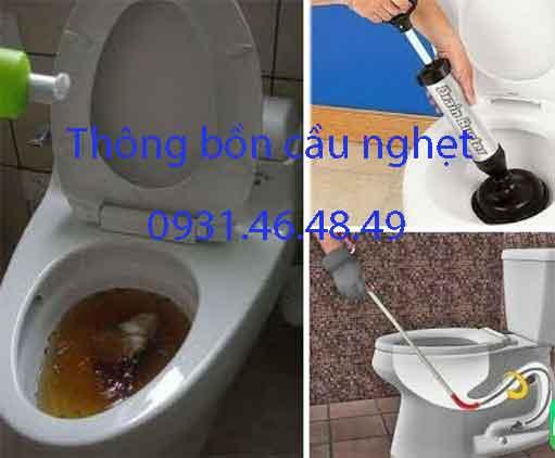 Thông bồn cầu nghẹt, Phường 25 quận Bình Thạnh