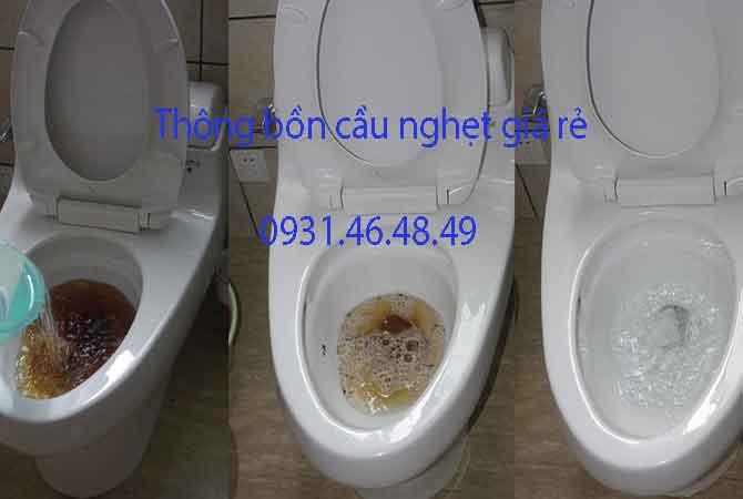 Thông bồn cầu nghẹt, Phường Tân Hưng Thuận quận 12 giá rẻ