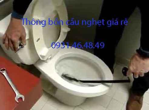 Thông bồn cầu nghẹt, Phường Tân Phú Quận 9 giá rẻ
