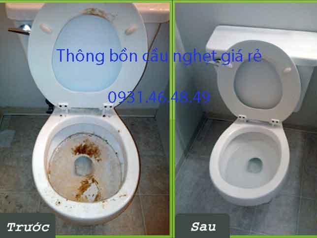 Thông bồn cầu nghẹt, Phường Thạnh Lộc quận 12 giá rẻ
