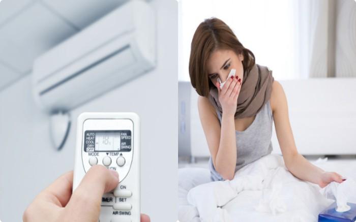Đặt nhiệt độ điều hòa quá thấp khiến người dùng dễ bị sổ mũi, cảm cúm, viêm họng