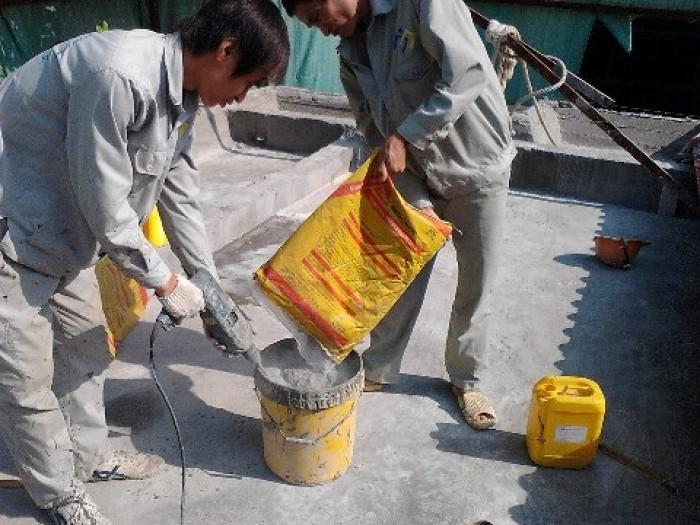 Giá chống thấm bằng chất chống thấm sika 2 thành phần